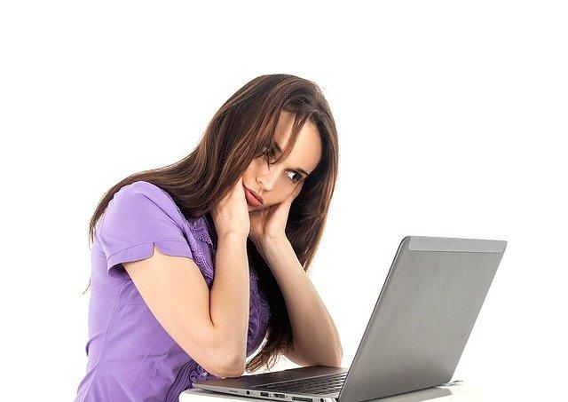 únava u počítače