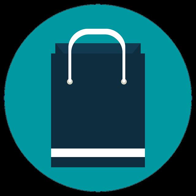 modrá nákupní taška